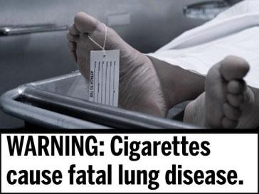 ВНИМАНИЕ: Сигареты являются причиной смертельной болезни легких