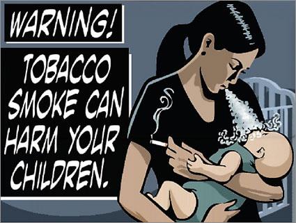 ВНИМАНИЕ: Табачный дым может нанести вред вашим детям