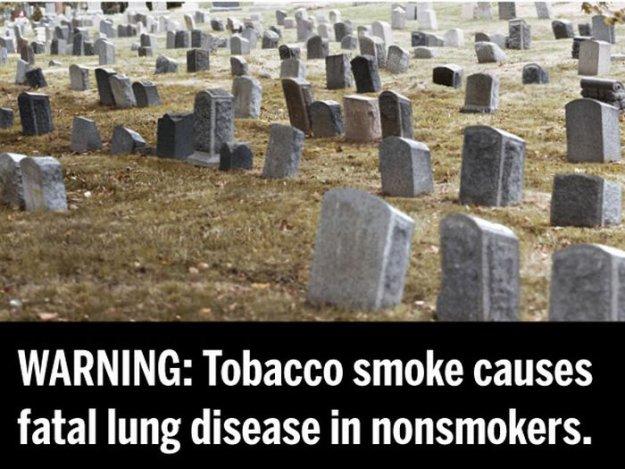 ВНИМАНИЕ: Табачный дым является причиной смертельной болезни легких у некурящих